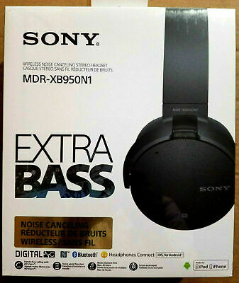 BRAND NEW Sony MDR-XB950N1 EXTRA BASS Noise-Canceling Bluetooth Headphones Black
