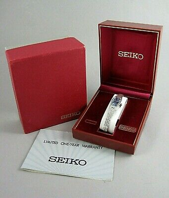 Vintage Seiko 1520-3629 17 Jewel Ladies Watch Manual Wind with Box and Case NICE