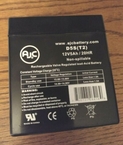 AJC Battery-D5S(T2) 12V5AH/20H Nonspillable Rechargeable Valve Regulated Battery