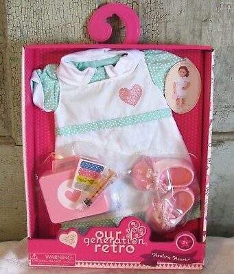 Our Generation HEALING HEARTS Nurse Doctor outfit set American 18