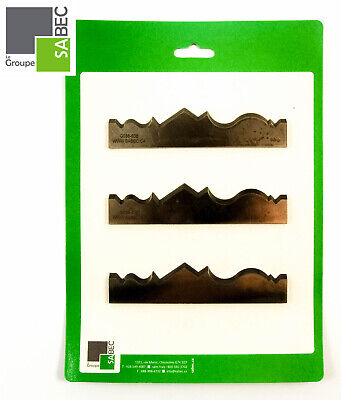 New Moulding Knives Kit Of 3 Crowns 6.0 Woodmaster Compatible 1012