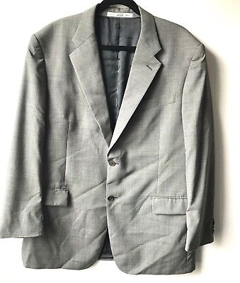 Gianfranco Ferre Blazer Size 48 US 58 IT Black White Wool Two-Button Jacket