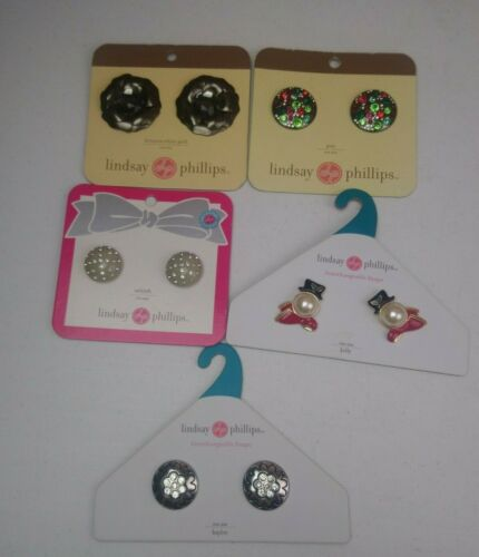 Lindsay Phillips Interchangeable Snaps Shoe Charms Lot of 5