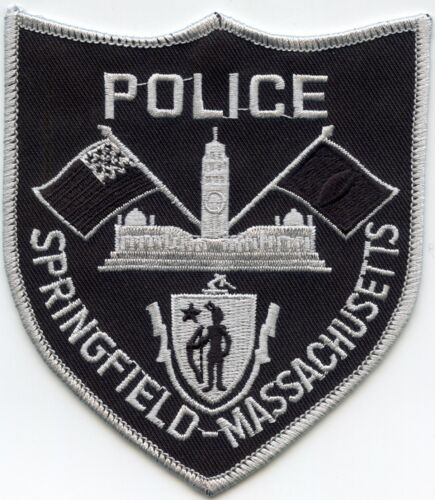 SPRINGFIELD MASSACHUSETTS MA subdued POLICE PATCH
