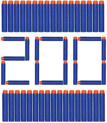 200Pcs EVA Bullet Refill Darts Premium Foam Bullets Pack for Nerf Toy Guns