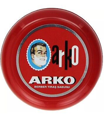 Arko Mens Shaving Soap In Case Bowl Classic Wet Shave Best Lather Moisture 90g😮