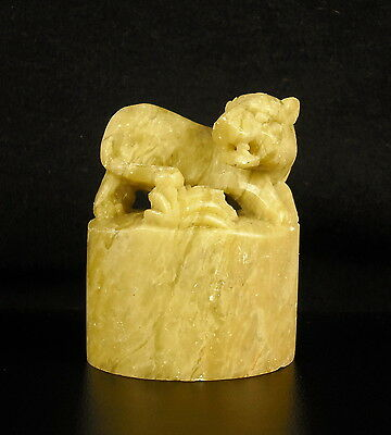 Tiger in Soapstone Sign Astrological Astrology Chinese China Astrology Tiger