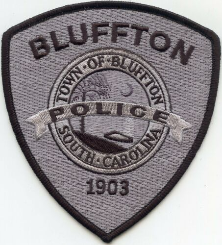 BLUFFTON SOUTH CAROLINA SC subdued POLICE PATCH