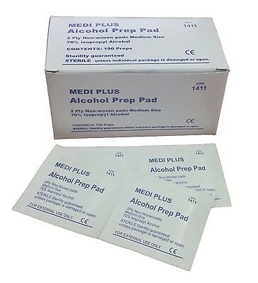 - Medi Plus Alcohol Prep Pad (Pack of 100) IFAK EMT EMS First Aid Kit Disinfection