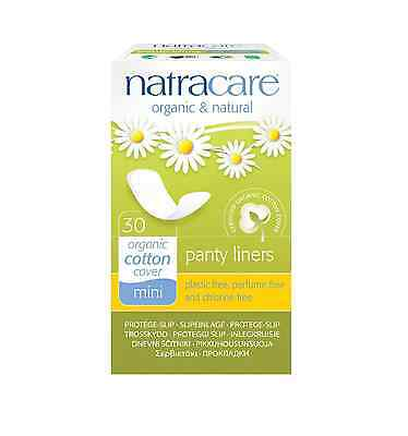 Natracare Mini Panty Liners 30 Ea (pack Of 7)