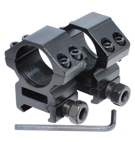 "1 Pair 1"" Medium Profile Scope Rings Picainny/Weaver Mounting System"