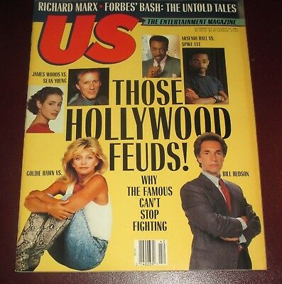 Us Magazine October 16  1989 Goldie Hawn Bill Hudson James Woods Sean Young