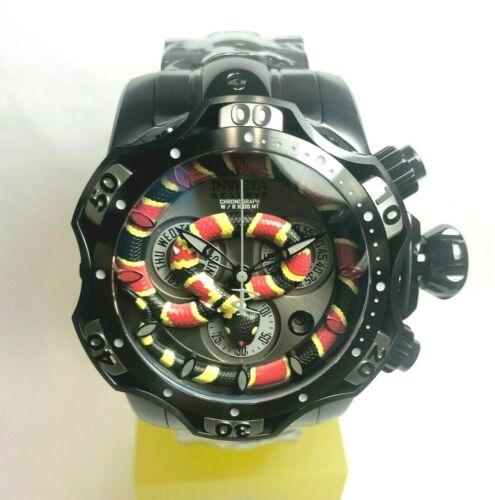 INVICTA 30310 Reserve 52mm Venom Cobra Swiss Quartz Chrono Bracelet Watch -Black