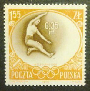 POLAND STAMPS MNH Fi849 Sc756 Mi994 - Olimpic Games Melbourne, 1956, clean - Reda, Polska - POLAND STAMPS MNH Fi849 Sc756 Mi994 - Olimpic Games Melbourne, 1956, clean - Reda, Polska