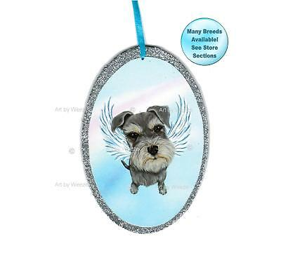 Schnauzer Angel Ornament Dog With Wings Christmas Ornament Pet Memorial