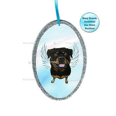 Rottweiler Angel Ornament Pet Memorial Dog With Wings Christmas Ornament