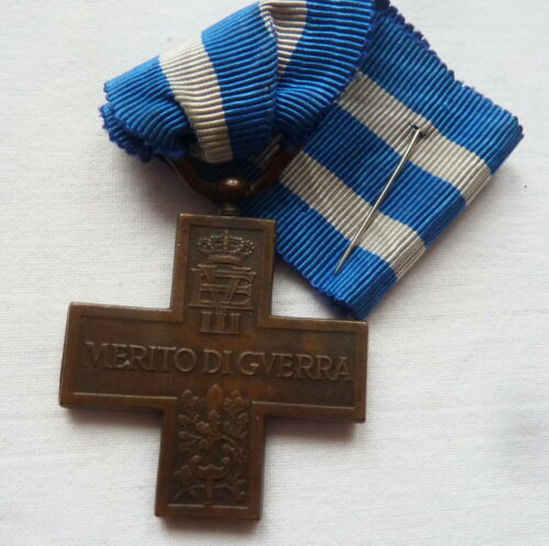 ITALIAN CROSS MERIT OF WAR WWI VICTORY 1918 FIRST WORLD WAR ITALY KINGDOM