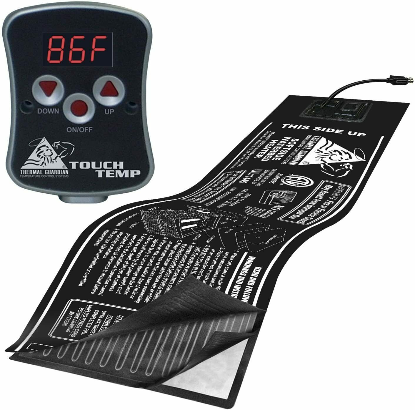NEW ~ INNOMAX Thermal Guardian Touch Temp Soft Side Waterbed