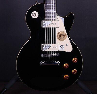 Epiphone 1956 Les Paul Standard P-90s Black Electric Guitar #6580