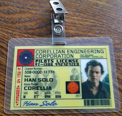 Solo ein Star Wars Story Id Badge-Han Solo Requisite Cosplay Kostüm