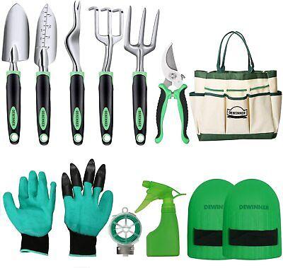 Garden Gardening Tool Set Hand Tools Trowel Folk Shears Carry Bag Outdoor 11pcs