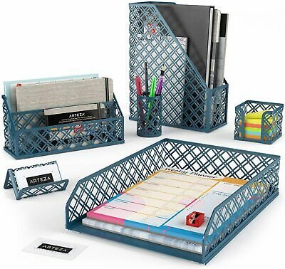 Arteza Desk Organizer Dark Green - 6 Piece Set
