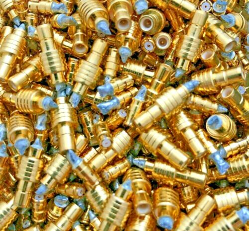 300g OF HIGH YIELD GOLD PLATED RF CONNECTORS FOR GOLD SCRAP RECOVERY