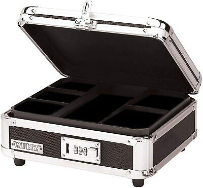 Vaultz Locking Cash Box Blackchrome Vz01002