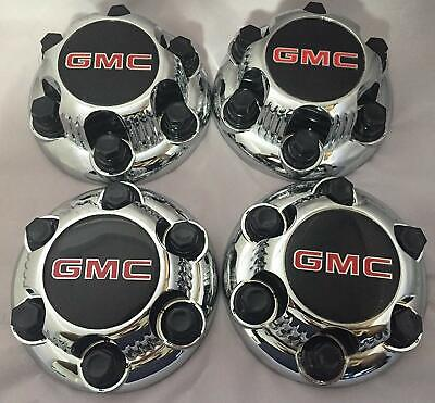 "4 Chrome For GMC Sierra Yukon Savana 6 Lug 1500 Center Caps 16"" 17"" Wheels"