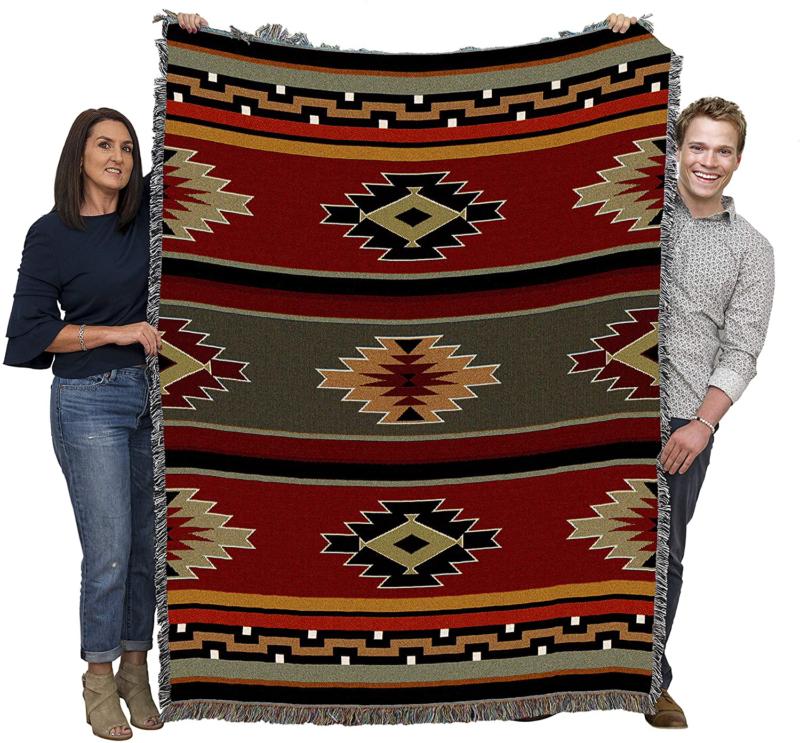 native american tribal inspired indian camp blanket