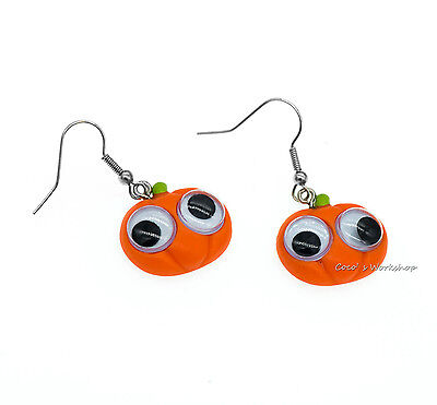Girl Pearl Earring Halloween Costume (QUALITY GIRL GOOGLY EYES PUMPKIN HALLOWEEN COSTUME PARTY DROP EARRINGS CHIC)