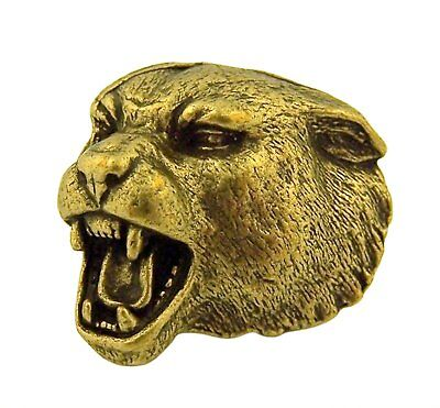 Bronze Farbe Hoch Relief 3-dimensionale Panther Schule Maskottchen - Panther Maskottchen
