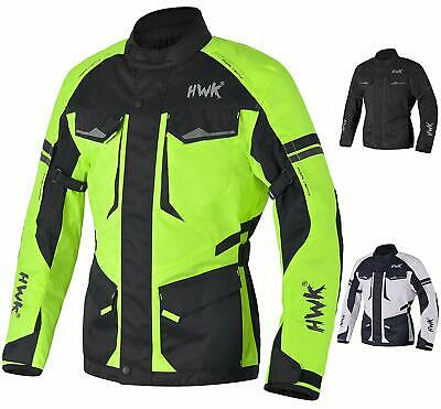 Adventure/Touring Waterproof Jacket For Men Textile Motorbike CE Armored
