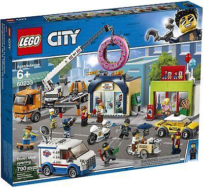 New LEGO City Donut Shop Opening 60233 Crane Truck ATV Police 10 Minifigures NIB