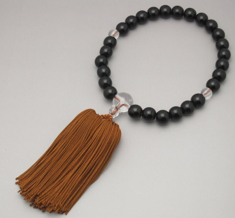 Japanese NENJUDO JUZU beads bracelet Black Made in JAPAN JINJA for Men