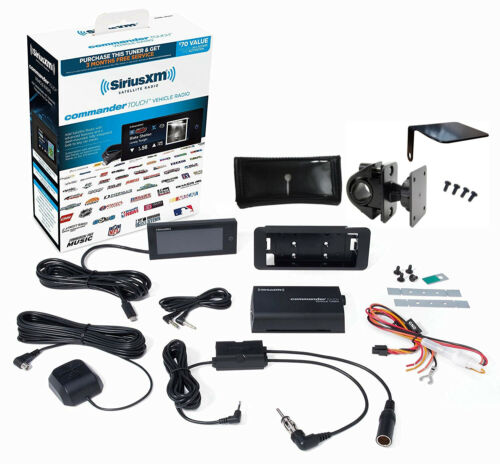 SiriusXM Motorcycle Kit with Commander Touch and Handlebar Mount w/ Ant Pedestal