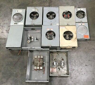 Lot Of 11 Meter Boxes Milbank Durham Landis Cutler Meter Box Lot 2