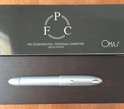 OMAS 360 PC PERSONAL COMPUTER LIMITED EDITION FOUNTAIN PEN #127/1008 18K MED NIB