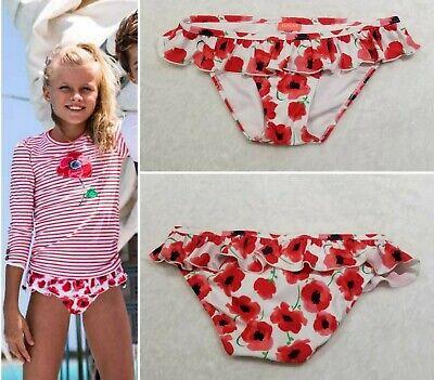 GIRL'S SUNUVA BEACHWEAR POPPY FRILLY RUFFLE BEACH SWIM BIKINI BOTTOM 9/10 Years