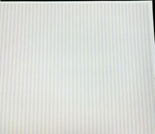 "Dollhouse Brodnax Wallpaper Striped Pale Blue Green Cream ""Seaside Stripe"" 1:12"