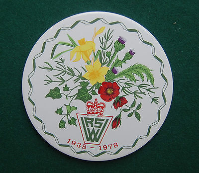 Women's Royal Voluntary Service 40th Anniversary Plaque/Tile - WWII - Charity