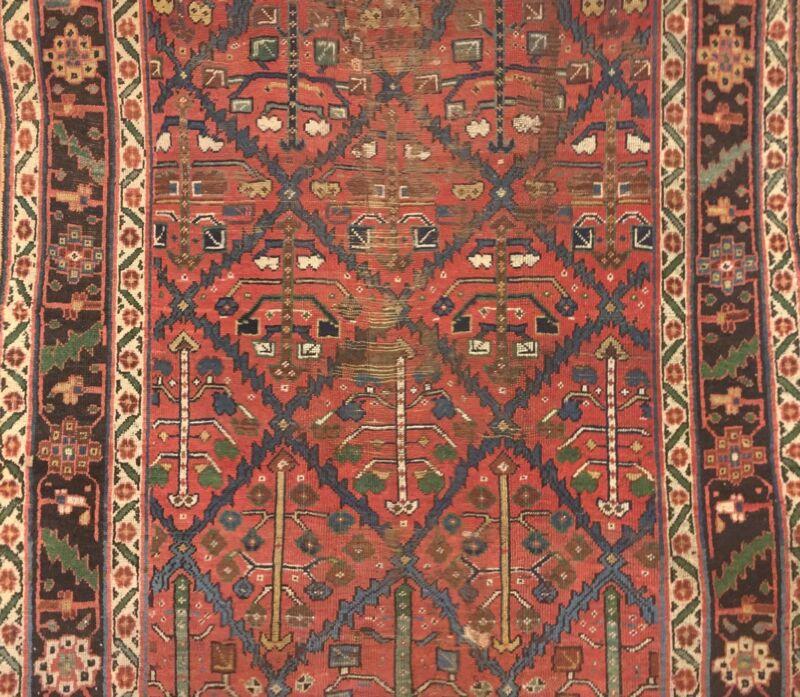 Tremendous Tribal - 1900s Antique Kurdish Rug - Gallery Carpet - 5.11 X 11.11
