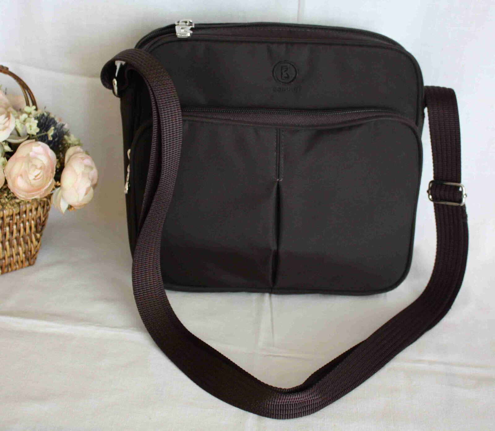 BOGNER Tasche Schultertasche Umhängetasche Handmade City Bag dunkelbraun Nw.