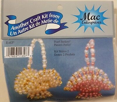 Pearl Baskets Easter Beaded Wire Beading Safety Pins Craft Kit Mac Enterprises  (Easter Basket Craft)