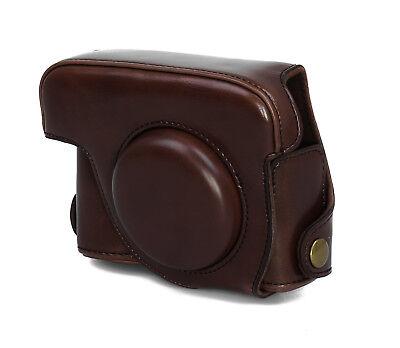 Kameratasche Etui für Canon PowerShot G15 / G16 Kunstleder coffee CC1109b ()