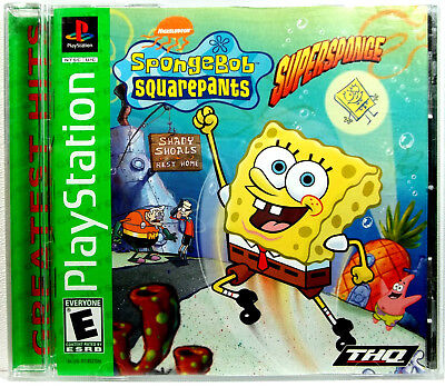 SpongeBob Squarepants Super Sponge (GH)(PS1) Complete.Clean,Tested,Fast Shipping