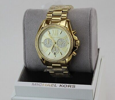 NEW AUTHENTIC MICHAEL KORS BRADSHAW GOLD CHRONOGRAPH WOMEN'S MK6538 WATCH
