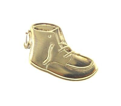 Charm Griffith BABY BOOTIE  SHOE Sterling Silver or Gold Plated flat large ()