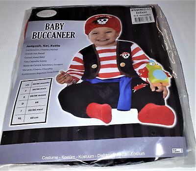 iraten Baby Buccaneer Karneval Halloween 68  0-6 Monate (Piraten-kostüm Baby)