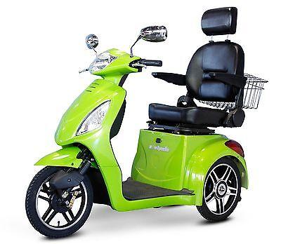 EWheels Purple FAST EW-36 Mobility Scooter, Electric 3 Wheel Cart, Green Apple